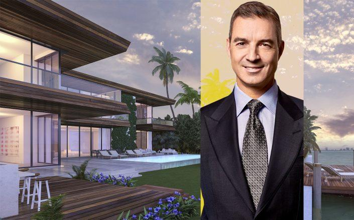 Billionaire hedge fund manager Dan Loeb and renderings of 6440 North Bay. (Third Point, To Better Days Development)