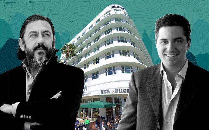 Blink's Michael Farkas and Lionstone's Diego Lowenstein with 605 Lincoln Road (Google Maps)