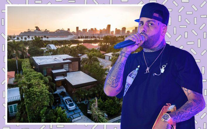 Nicky Jam and 240 Palm Island Drive (Getty, Luxe Living Realty)