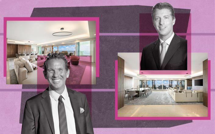 Ron and Michael Simkins with 7972 Fisher Island Drive, Fisher Island (Innovate, Douglas Elliman)