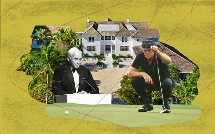 Leslie Wexner and Greg Norman with the Jupiter Island property (Getty, Shawn Hood Media)
