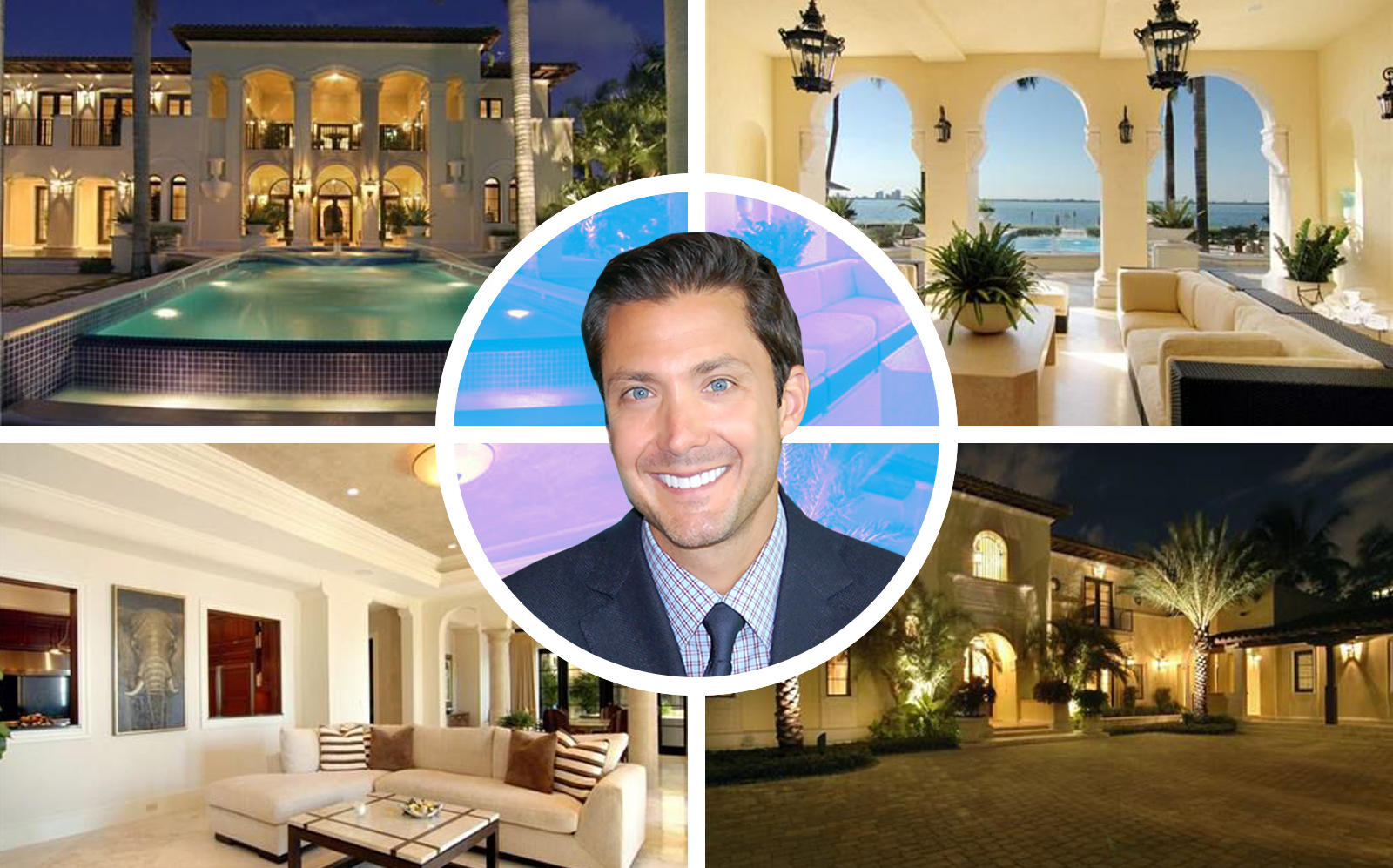 Marc Gardner with his new Miami waterfront house. (Bancard, One Sotheby's)