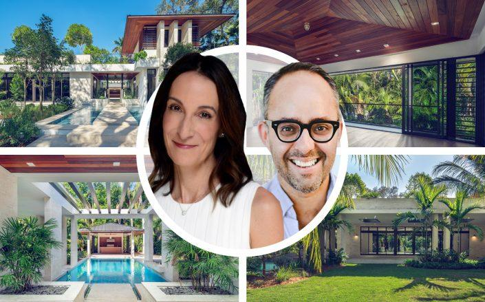 Stephanie & André Dua with 3829 Stewart Avenue, Miami. (LinkedIn via Stephanie Dua, Mckinsey & Company, Lifestyle Production Group for ONE Sotheby's International Realty)