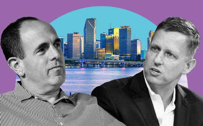 Founders Fund partners Peter Thiel and Keith Rabois (Getty/Illustration by Kevin Rebong for The Real Deal)