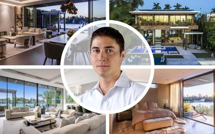 Honey co-founder Ryan Hudson with his new Venetian Islands home. (LinkedIn via Hudson, 508 W Dilido Drive)