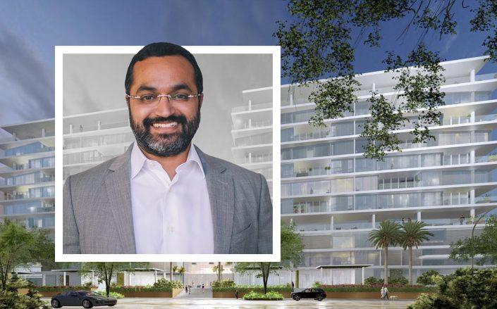 Location Ventures CEO Rishi Kapoor and a rendering of the project. (Location Ventures)