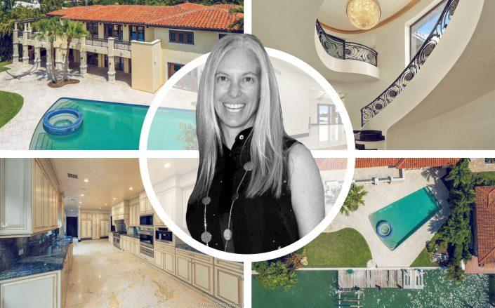 Michelle Simkins and 6300 North Bay Road (Getty, Coldwell Banker Realty)