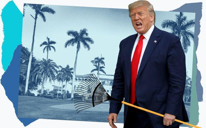 Photo illustration of Donald Trump at Mar-a-Lago (iStock, Getty/Illustration by Kevin Rebong for TRD)