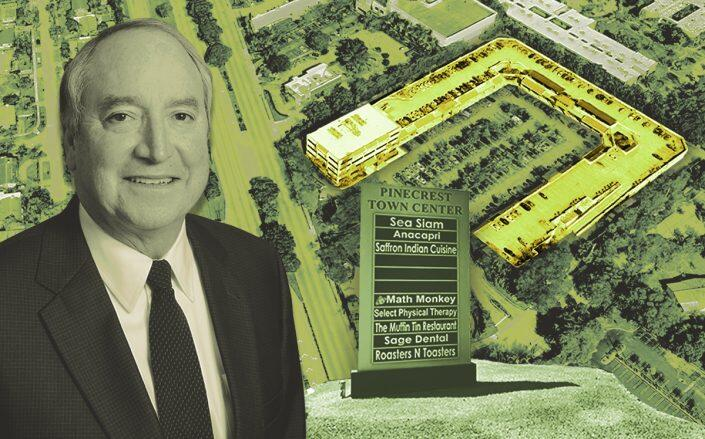 Orion Real Estate Group executive chairman Joseph Sanz and Pinecrest Town Center at 12651 South Dixie Highway (Google Maps)