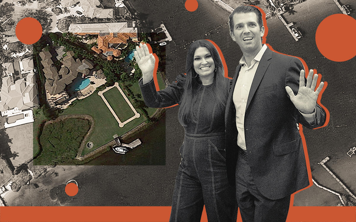 Donald Trump Jr. and Kimberly Guilfoyle with 494 Mariner Drive (Getty, Google Maps)