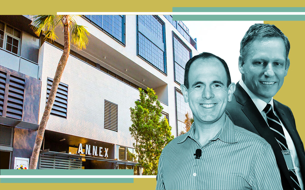 Keith Rabois and Peter Thiel with Wynwood Annex (Getty, Dwntwn Realty Advisors)