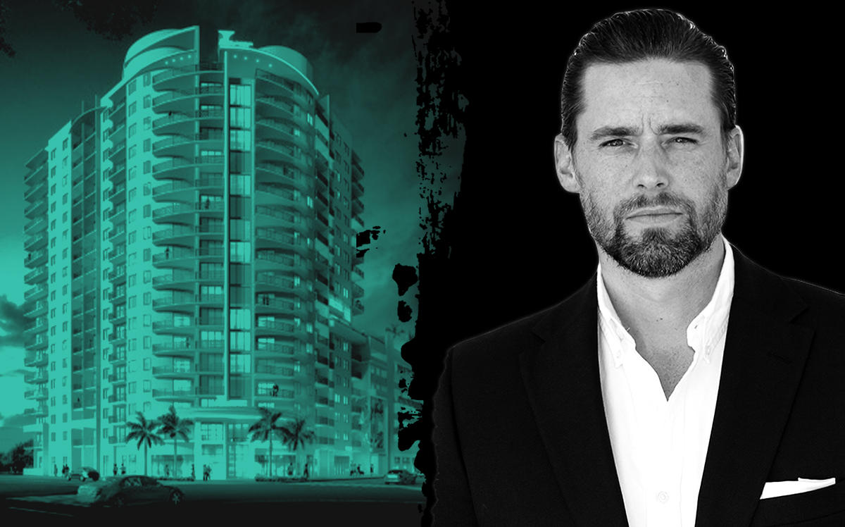 Affiliated Development CEO Jeff Burns and a rendering of The Tropic project (Affiliated Development)