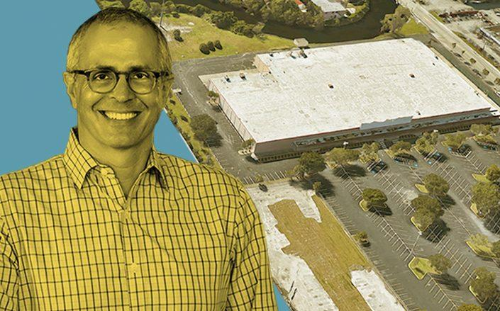 Ram Realty CEO Casey Cummings and the development site at 670 East Oakland Park Boulevard (Google Maps)