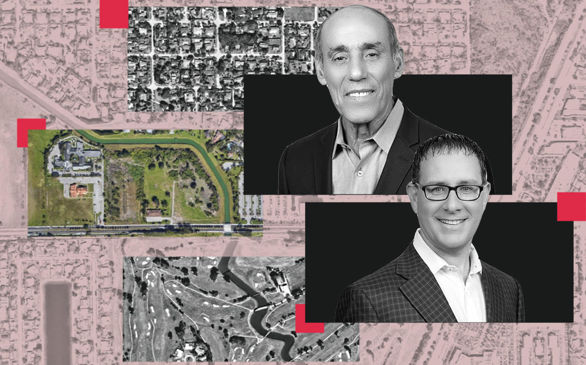 Royal Senior Care CEO Avi Bittan and managing director Sean Kanov with the site at 152nd Street and 97th Avenue (Google Maps)