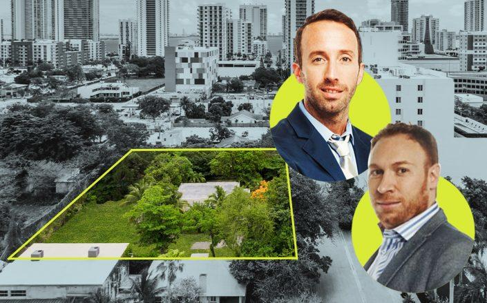 Aerial of Edgewater property with Spider's Andres Goldenberg and Alejandro Eskenazi (Apex Capital Realty)