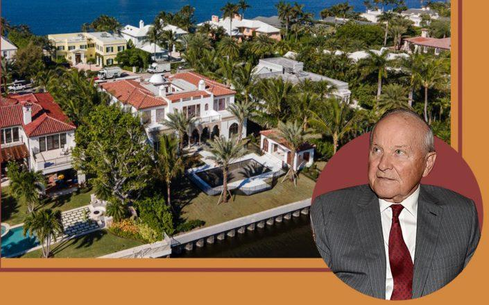 Charles B. Johnson and 624 Island Drive, Palm Beach (Getty, Christian Angle)