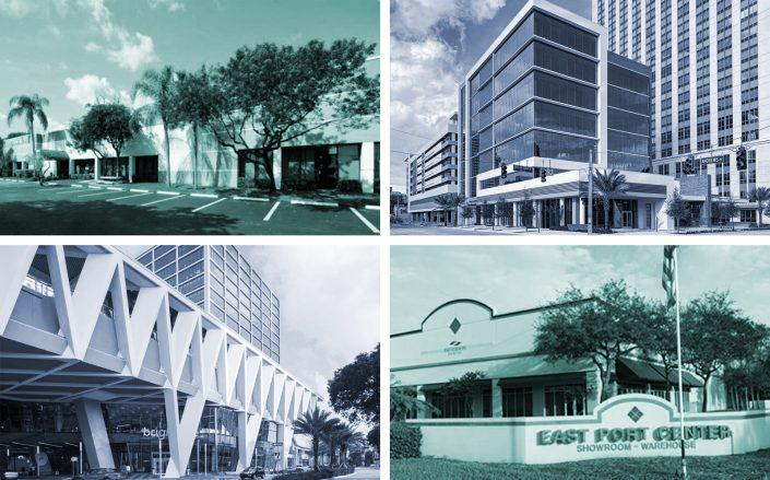 5553 Anglers Avenue, 550 Building, MiamiCentral and East Port Center. (Berger Commercial Realty, JLL, Brightline)