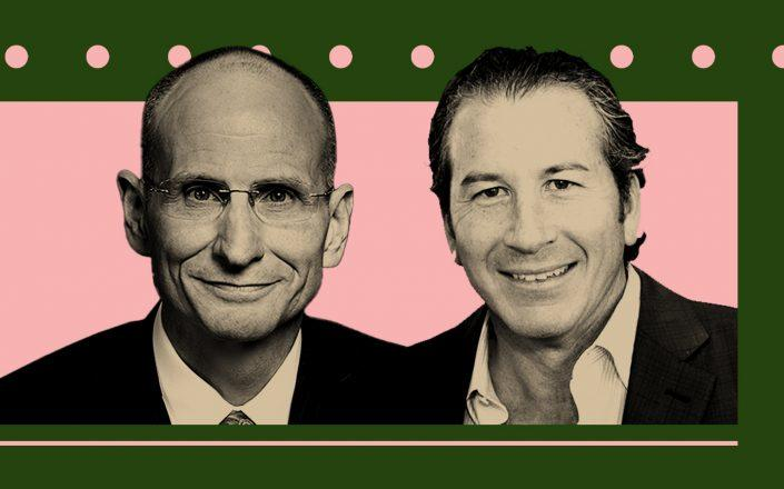 CBRE CEO Bob Sulentic and Gordon Messinger (CBRE/Illustration by Kevin Rebong for The Real Deal)
