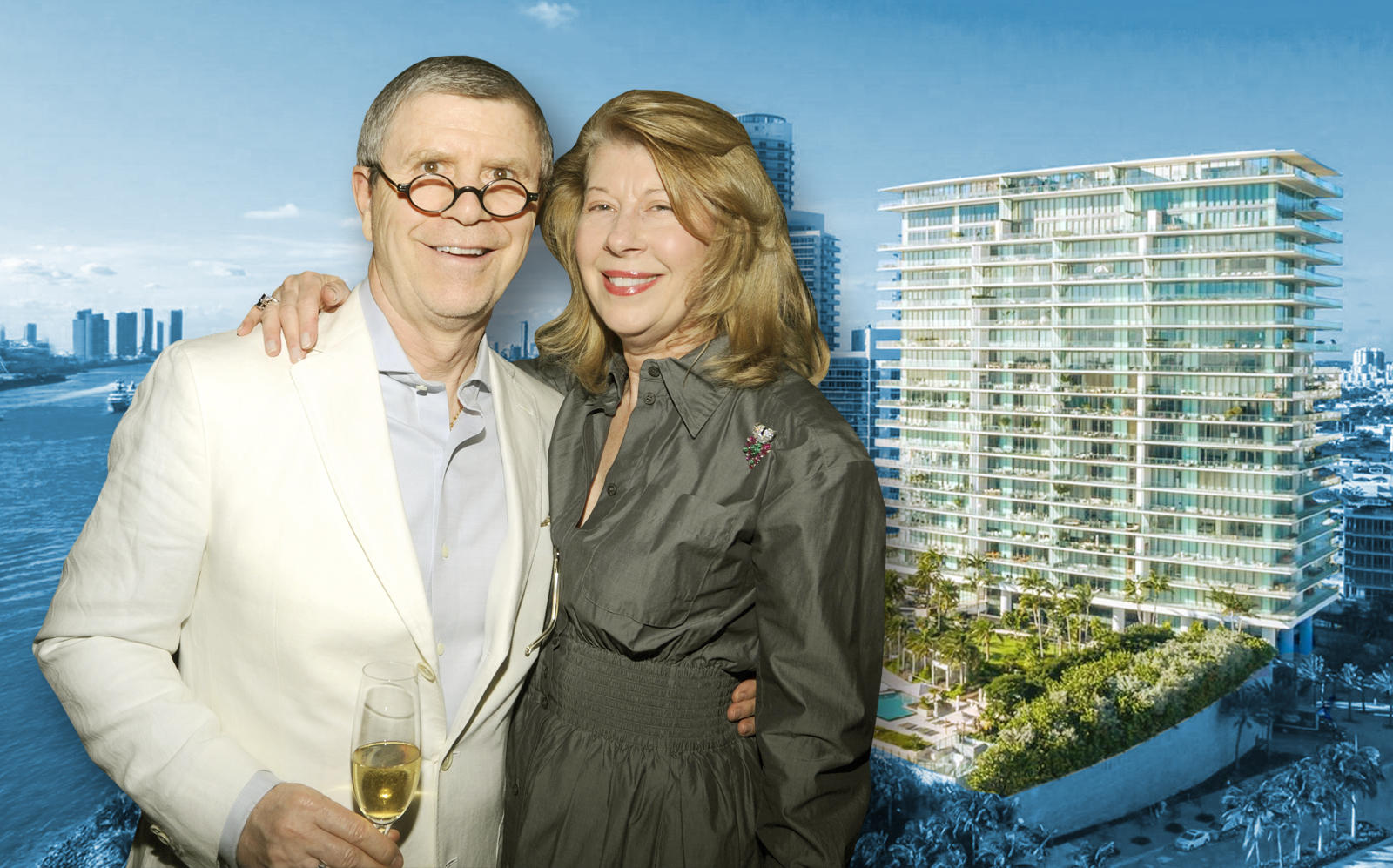 Ed & Jackie Rabin and the Apogee Condos. (Getty, Apogee)