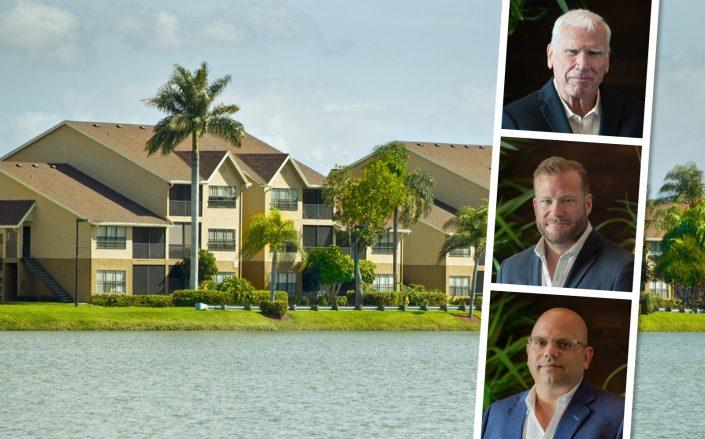 Michael Lynd Sr., Adam David Lynd and Constantine Scurtis of Lynd Living. (Lakes of Margate, Lynd)