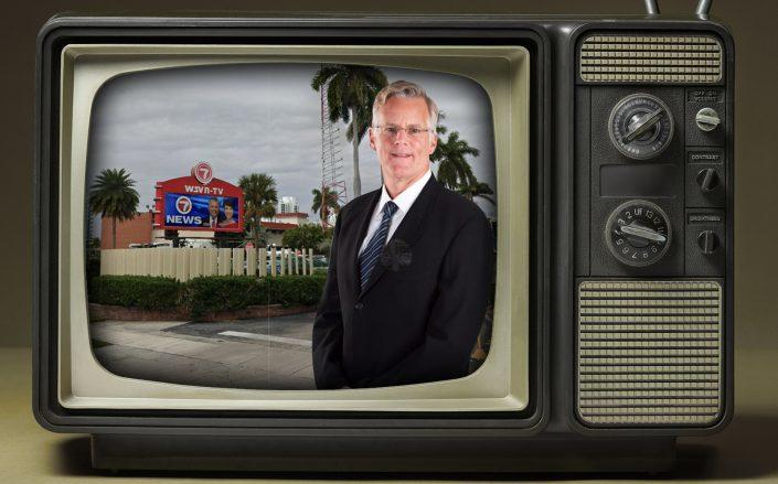 Sunbeam Television leader Andrew Ansin and WSVN-Channel 7 location. (Google Maps, Getty, Ansin)