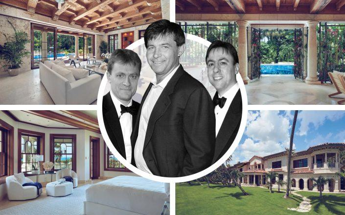 Daniel, Dirk and Robert Ziff with their recently sold Manalapan compound. (Sotheby's International Realty, Getty)