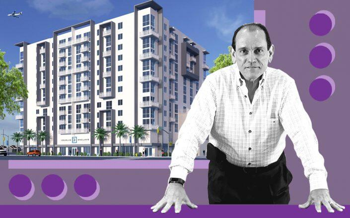 Astor Companies founder Henry Torres and a rendering of the Douglas Enclave (The Astor Companies)