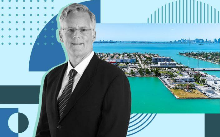 Andy Ansin with the property at 1601 79th Street in North Bay Village (iStock)