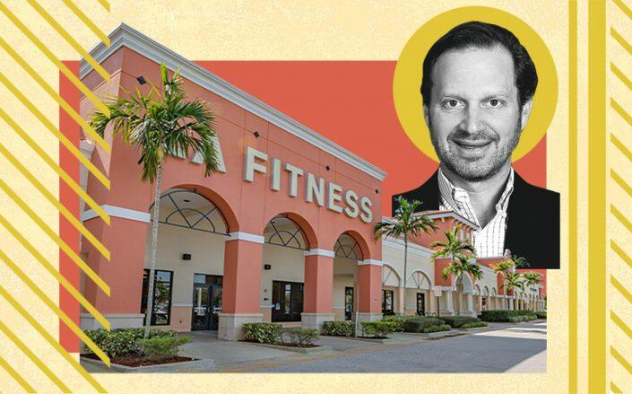 Continental Realty Corp. CEO J.M. Schapiro. and The Shoppes at Sherbrooke's anchor, LA Fitness