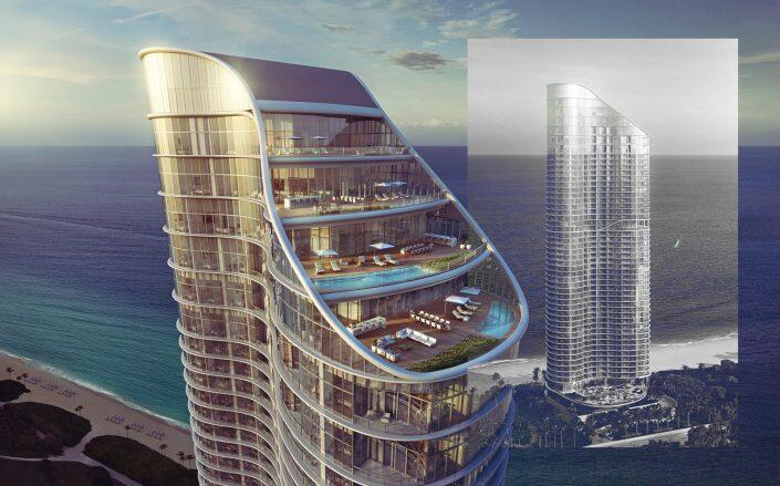 The Sunny Isles residential tower. (The Ritz-Carlton Residences)