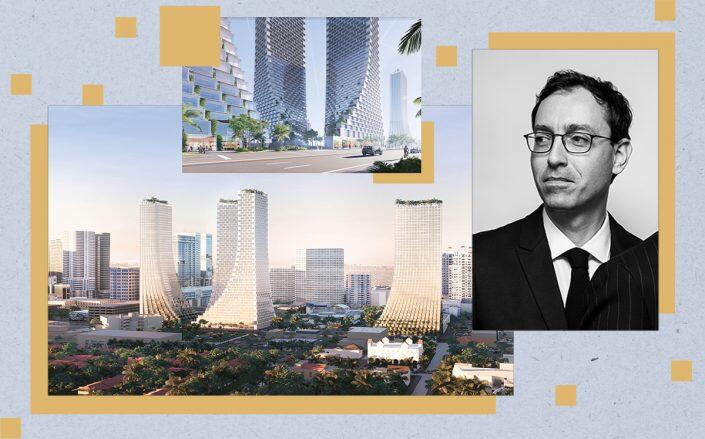 Laurent Morali and renderings of the project (Kushner Companies)
