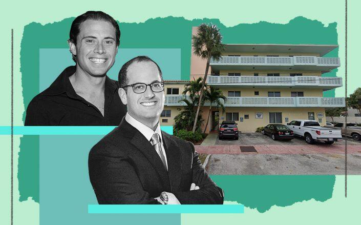 Jamie LeFrak and Ronny Finvarb with 1006 and 1022 Bay Drive in Miami Beach (Google Maps, Getty/Patrick McMullan)