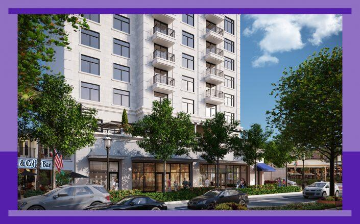 Rendering of the hotel project