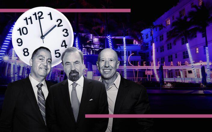 Don Peebles, Jorge Perez and Barry Sternlicht with the Clevelander hotel (Getty, iStock)