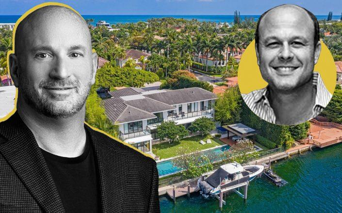 Homespire Mortgage's Michael Rappaport and (inset) Saber's Michael Klinger with 610 North Island Road, Golden Beach