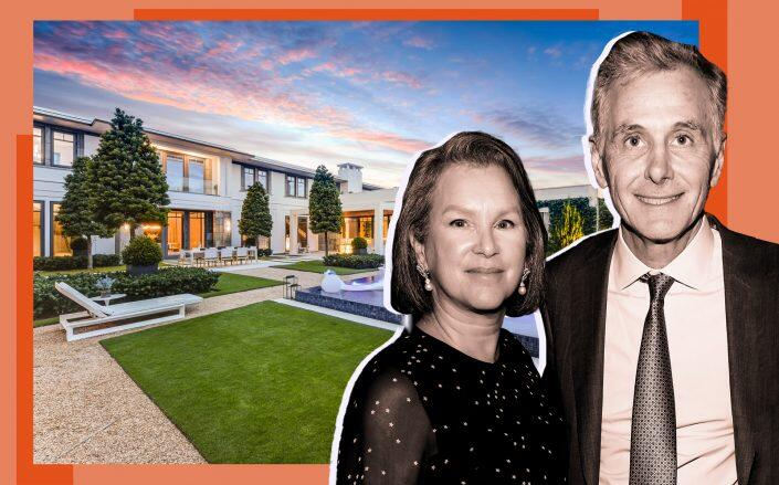 James Dinan and Elizabeth Miller and the property (Josh Quick, J. Quick Studios, Getty)