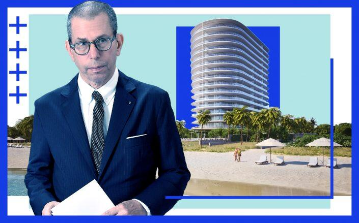 Jonathan Newhouse and Eighty Seven Park at 8701 Collins Avenue, Miami Beach (Getty, Eighty Seven Park Condo)
