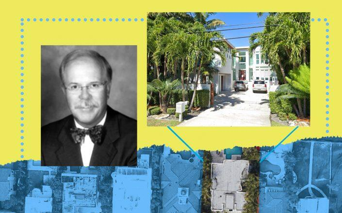 Kevin Flaherty and 1337 North Venetian Way in Miami Beach (Google Maps, Morgan Stanley)