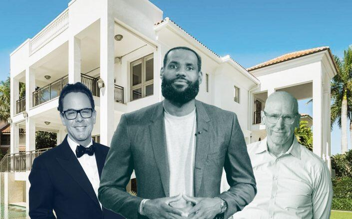 Tomo Kipp, LeBron James, Jeff Conry and the Crystal View Court Mansion. (Getty, iAero, Compass)