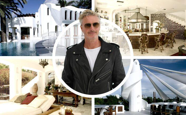 Eddie Irvine and his Hibiscus Island home. (Getty, Compass)