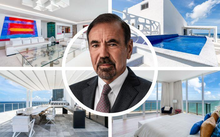 Related Group's Jorge Pérez and his Apogee Beach penthouse. (Related, Douglas Elliman)