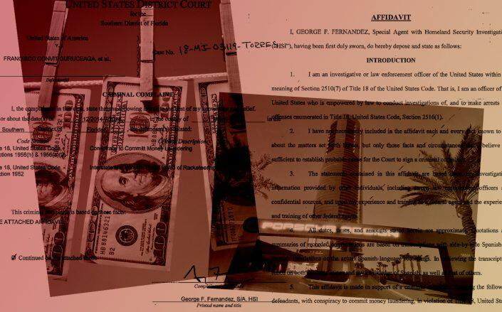 Abraham Edgardo Ortega is one of nine people charged in the laundering scheme. (Getty, Department of Justice)