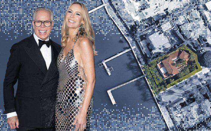 Tommy and Dee Olceppo Hilfiger with 313 Dunbar Road (Getty, Google Maps)