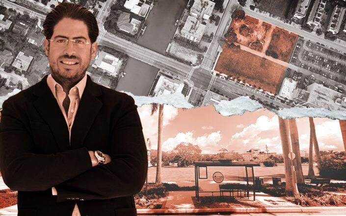 Terra's David Martin and the site now at 1177 Kane Concourse, Bay Harbor Islands (Google Maps)