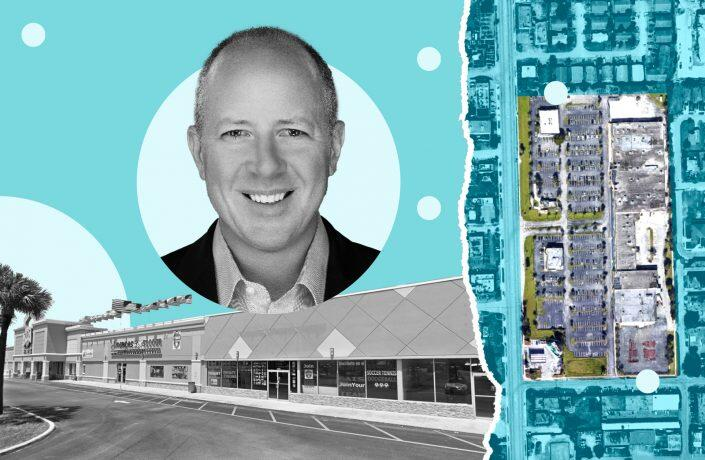 The shopping plaza at 3400-3570 North Andrews Avenue in Oakland Park with Hudson Capital CEO Group Steven Hudson (Google Maps, LinkedIn)