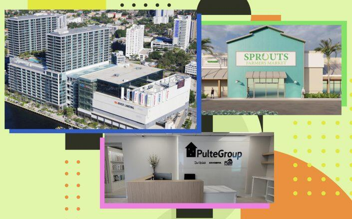 Clockwise: River Landing, Delray Commons and the PulteGroup office space