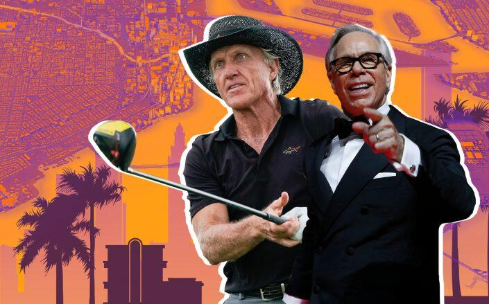 Greg Norman and Tommy Hilfiger (Getty, iStock)