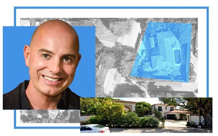 Frank Strausser and 365 North County Road, Palm Beach (Twitter, Google Maps)