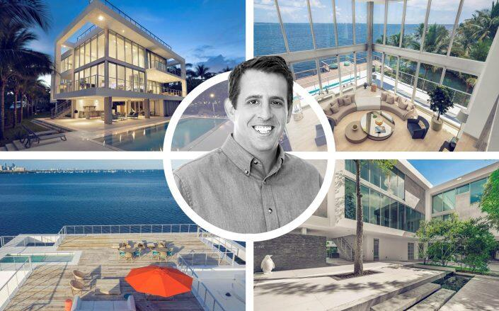 Mike Komaransky and the $30.5 million home he sold recently (Coldwell Banker Realty)
