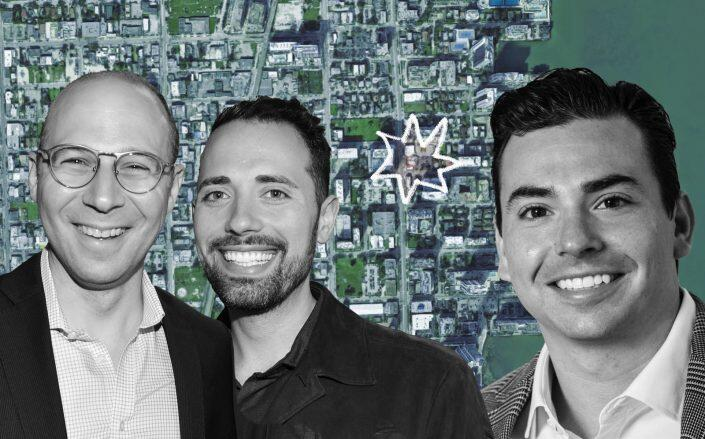Arch Companies founders Jeffrey Simpson, Jared Chassen and Infinity's David Berg. (Google Maps, Infinity, Getty)